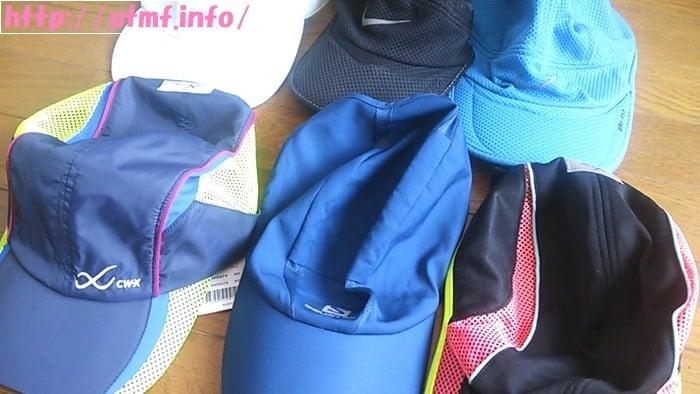 春夏の日差し対策!軽くて涼しい紫外線を防ぐCW-Xのランニング帽子。