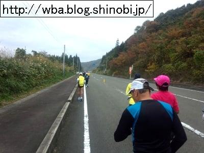 福島県湯の町飯坂茂庭っ湖マラソン大会会場に向かう景色