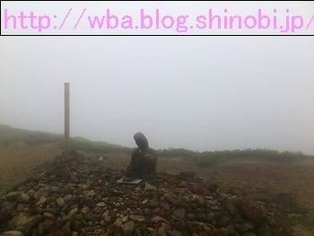 山形県で開催された蔵王トレイルランニングのコース上の景色。