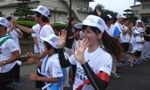 1000Km縦断リレー乃木坂46ランナー大和里菜と永島聖羅登場。