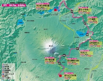 ウルトラトレイル・マウントフジのコース図