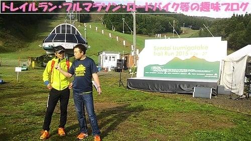 プロトレイルランナー石川弘樹氏がインタビューを受けている。