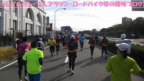 湘南国際マラソン2015Gグループからスタートしたランナー達。