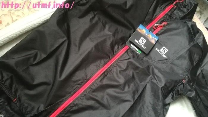 サロモンのトレイルランニングジャケット。