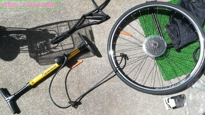 自転車のパンク修理は100円でできる!工具不要で簡単安上がり。
