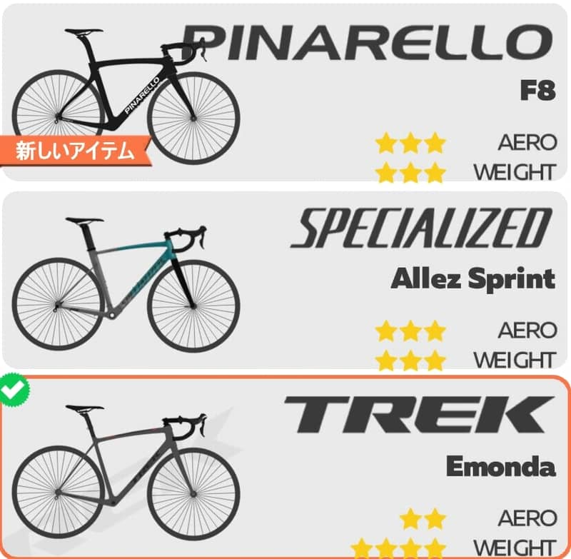 trek emonda and pinarello f8