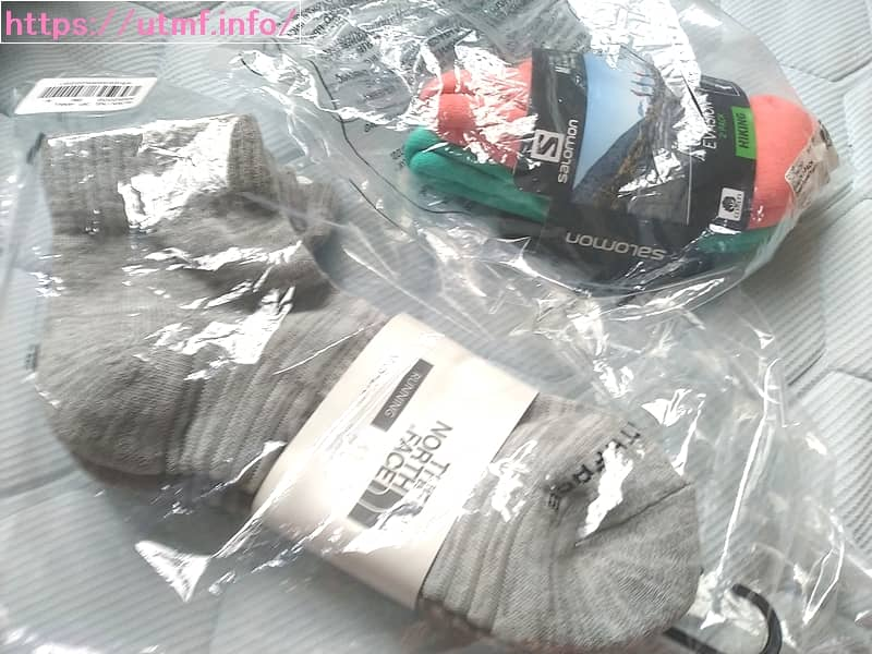 North Face and Salomon running socks